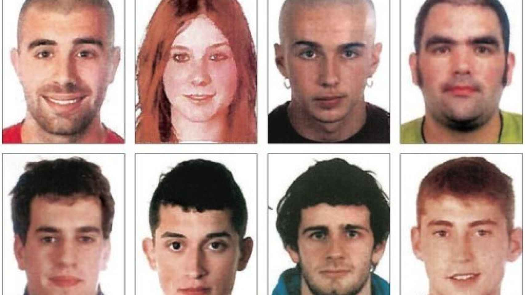 Imagen de los detenidos por la agresión de Alsasua.