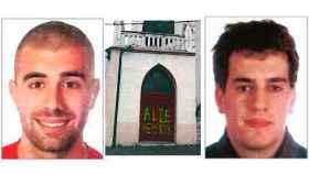 Dos de los presuntos agresores de Alsasua y una pintada en la iglesia.