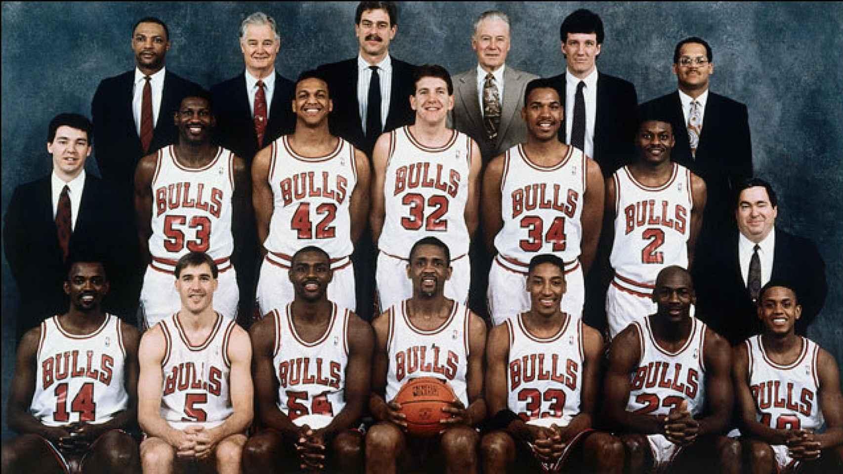 Plantilla de los Chicago Bulls para la temporada 1990/1991.