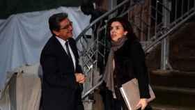 El delegado del Gobierno en Cataluña, Enric Millo, junto a Sáenz de Santamaría.