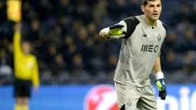 Casillas durante el partido de Champions League.
