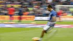Cristiano Ronaldo en un calentamiento.
