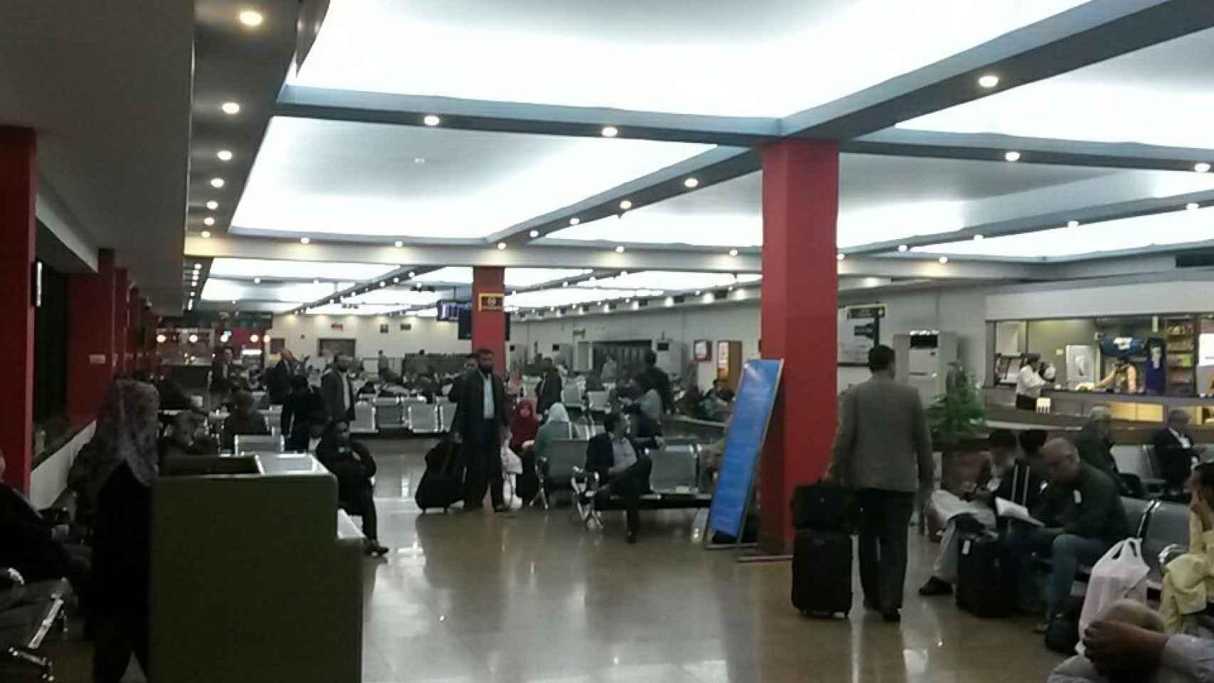 Aeropuerto de Islamabad momentos después de conocerse el siniestro