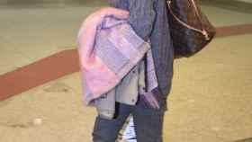 Alba Carrilo el miércoles en el aeropuerto para coger el vuelo a Laponia.