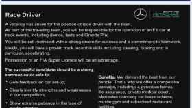 Anuncio de Mercedes en la revista Autosport.