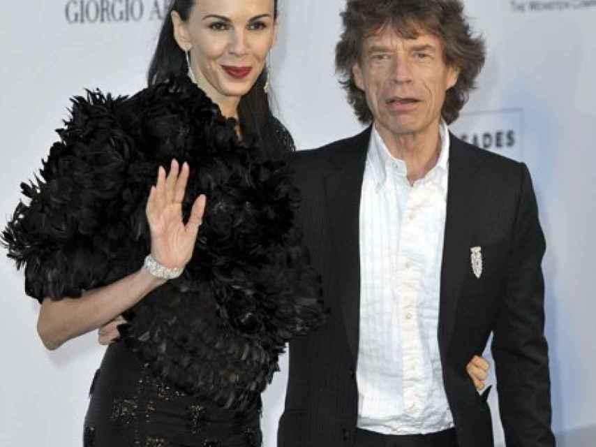 L' Wren Scott con Mick Jagger