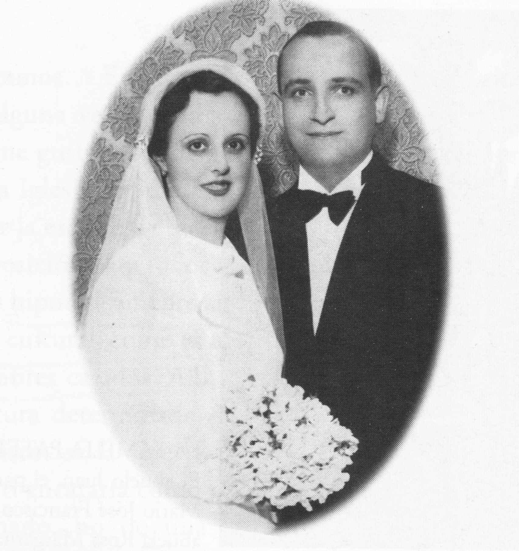 Los padres del papa Francisco, Regina y Mario, en una imagen de 1935.