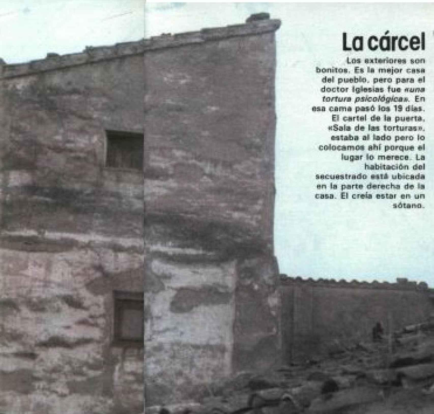 La casa en la que estuvo secuestrado Julio Iglesias Puga. Fotografía de 1982 cedida por la revista Interviú.