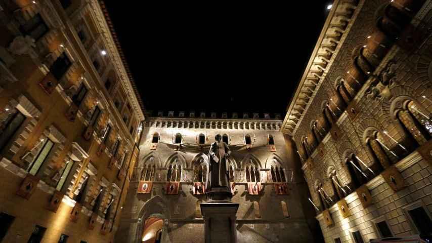 Sede central del banco italiano Monte dei Paschi en Siena, pendiente del rescate