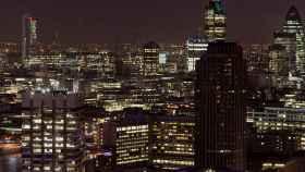 Vista del distrito financiero de Londres.