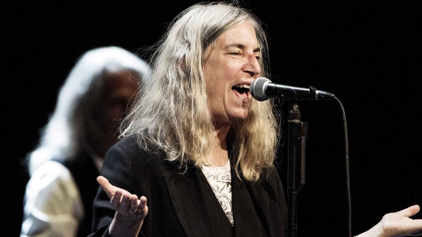 Patti Smith, durante la entrega de los Premios Nobel en Estocolmo.