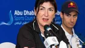 Marisol Casado, en el Triatlón de Abu Dhabi, en marzo de 2016.