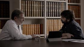 Cebrián y Évole durante la entrevista en 'Salvados'.