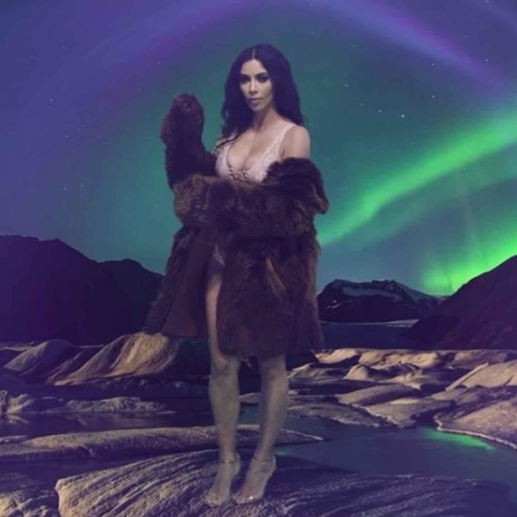 Kim Kardashian en su pleno esplendor.