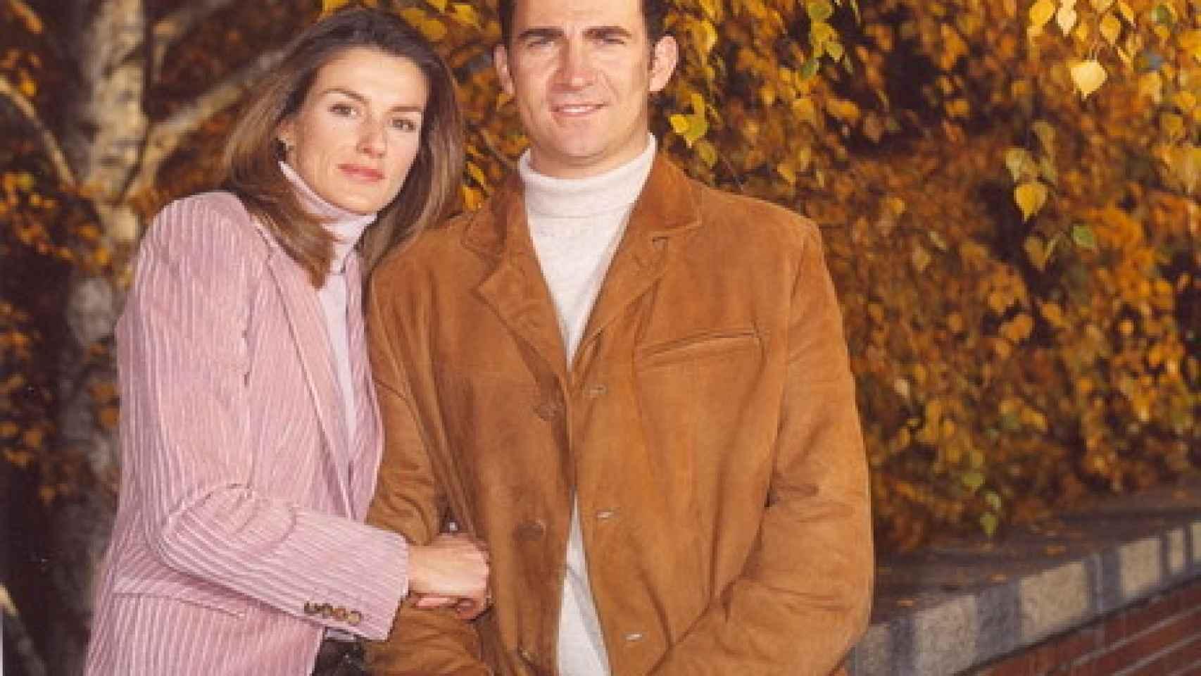 2004. La primera felicitación de Felipe y Letizia, siete meses después de haberse casado