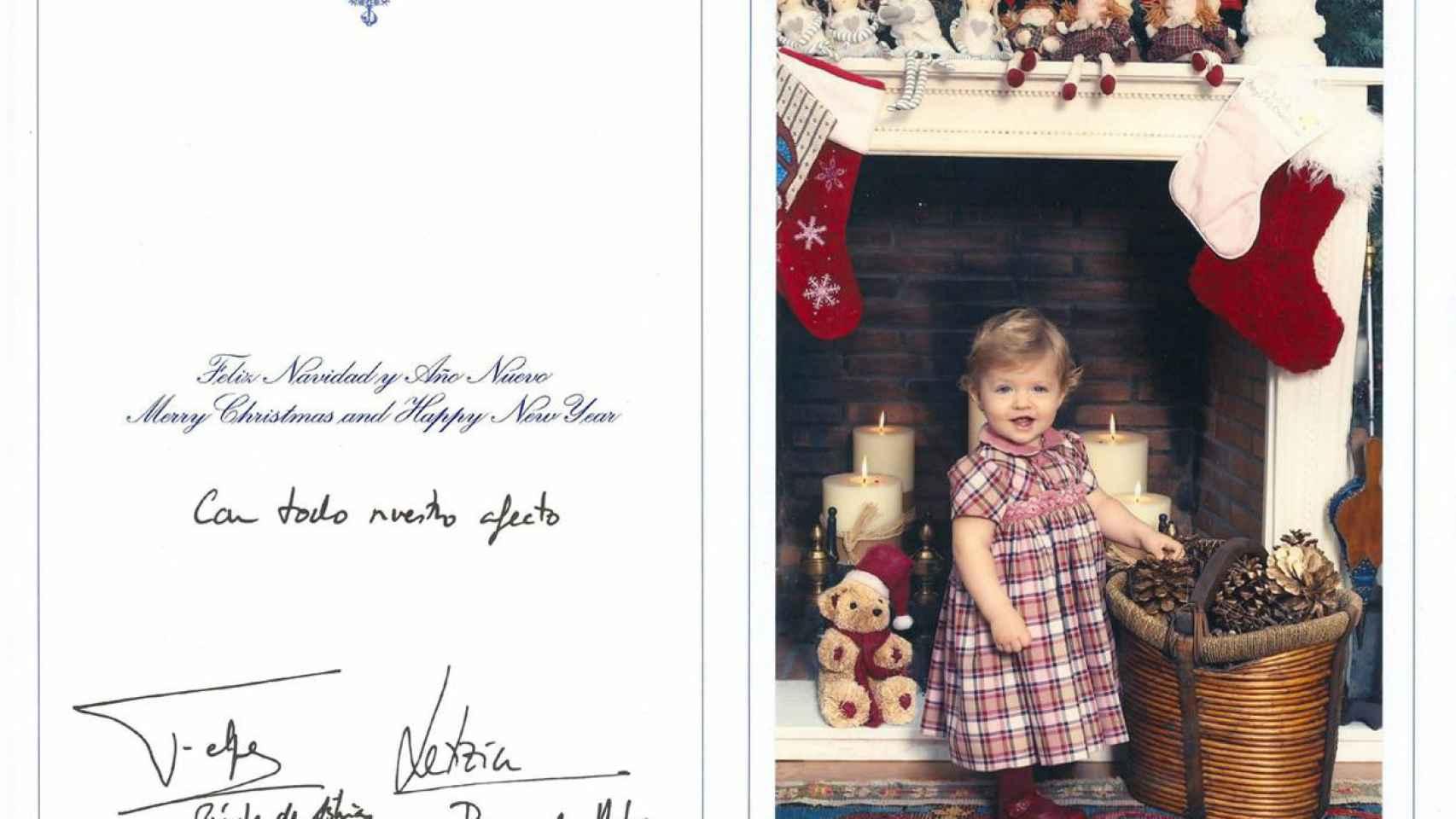 2006. Leonor acaparó el protagonismo de la felicitación navideña real