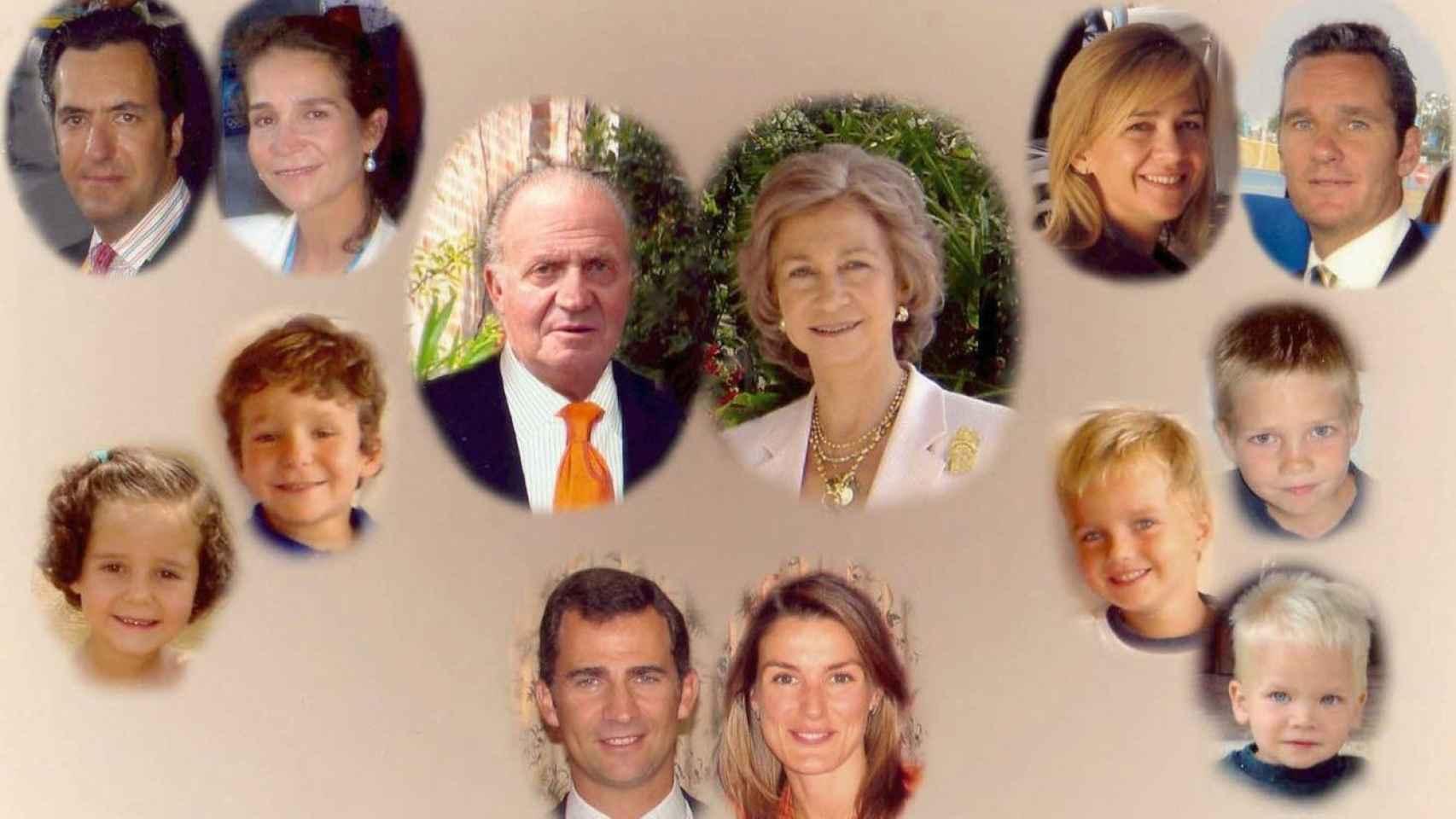 2004. Felicitación navideña de la familia Real al completo