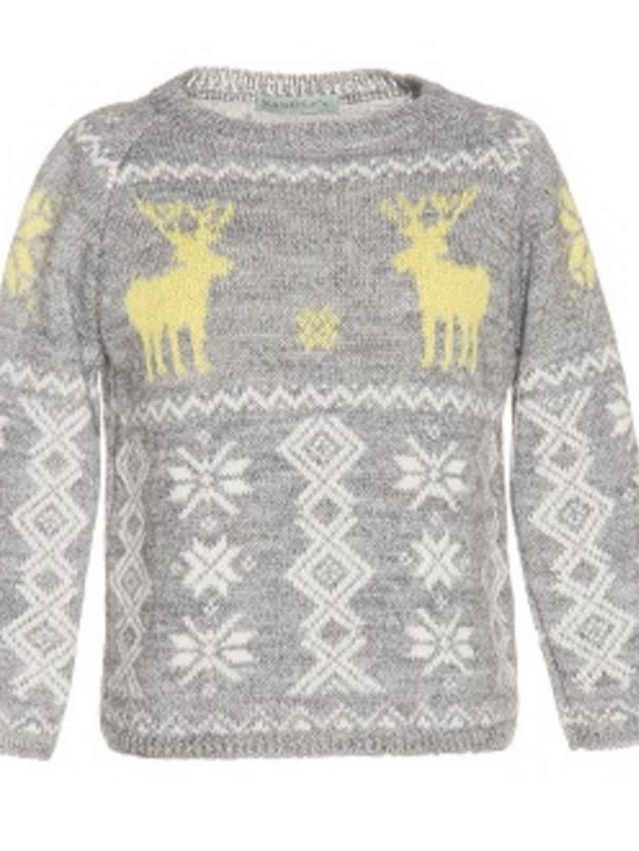 Jersey de renos que ha lucido la princesa Leonor en la felicitación navideña