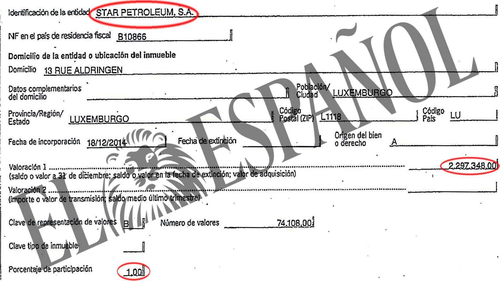 Parte de los documentos presentados a Hacienda por Cebrián.