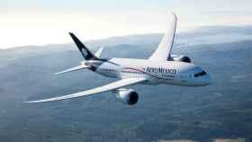 Uno de los aviones de la flota de Aeroméxico