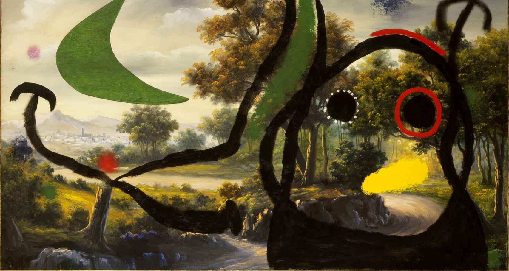Personaje en un paisaje cerca del pueblo, 1965, Joan Miró