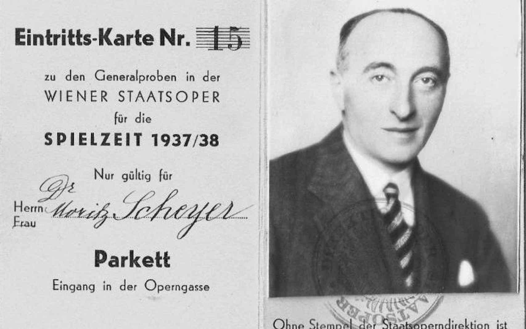 Pase a la ópera de Moriz Scheyer, de 1937.