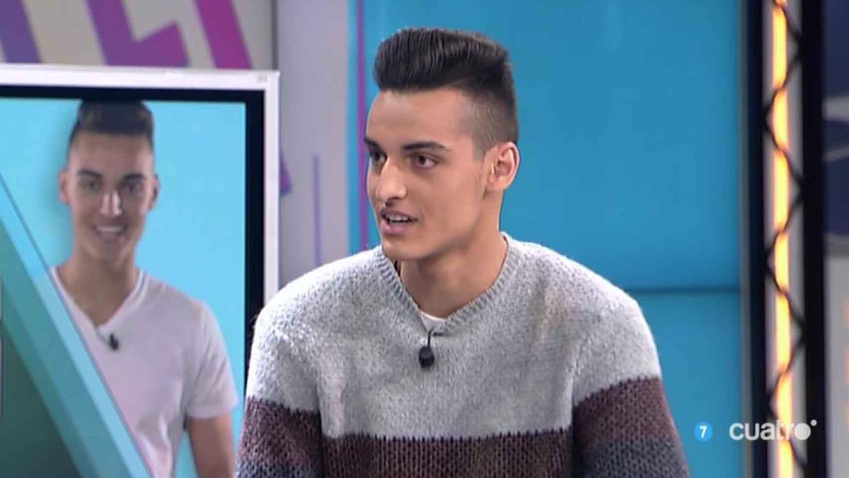 Sergio Soler, MrGranBomba, durante la entrevista en el programa 'Hazte un selfi'.
