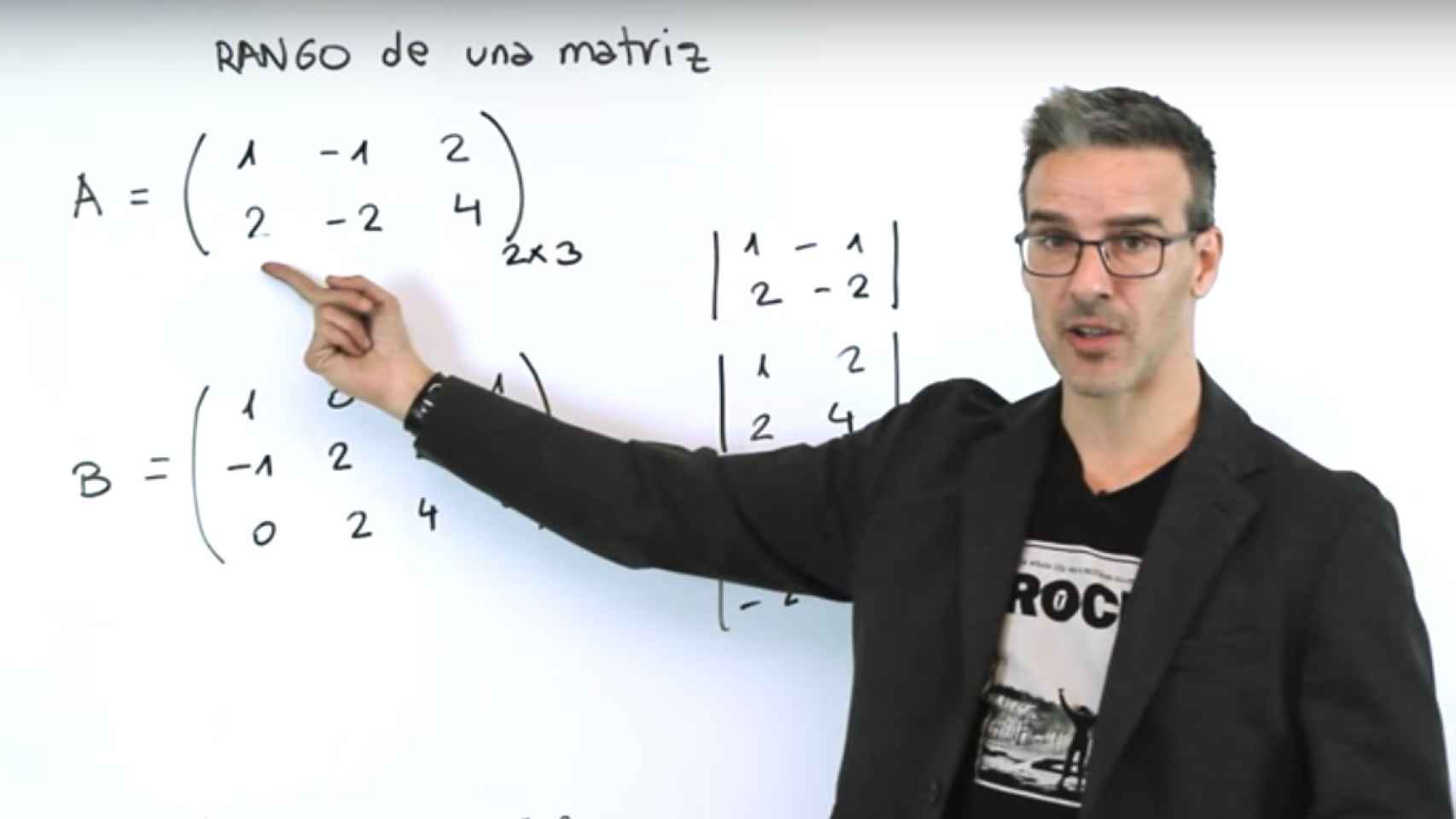 David Calle durante una de sus clases de Matemáticas