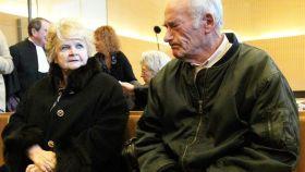 Le Guennec, electricista de Picasso y su esposa.