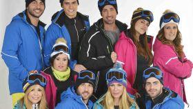 Los concursantes de Sálvame Snow Week.