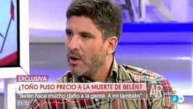 Toño Sanchís, en un momento de la entrevista concedida a Ana Rosa.