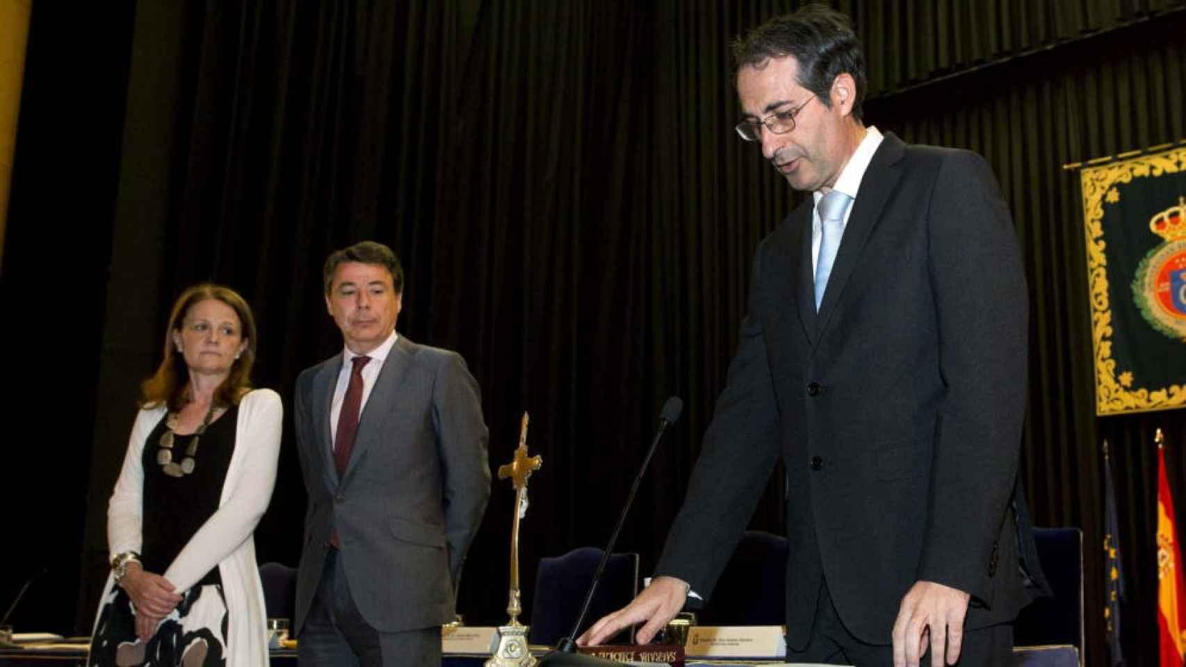 Fernando Suárez Bilbao en su toma de posesión como rector de la Rey Juan Carlos