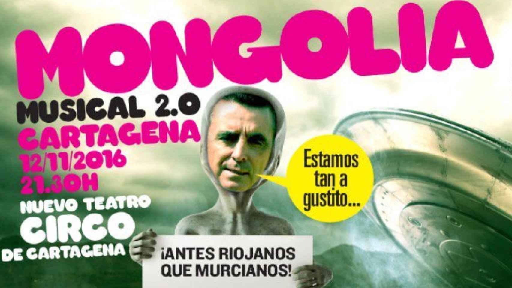 Uno de los carteles del evento de Cartagena.