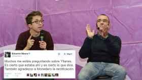El diputado de Podemos Maura respalda la versión de Yllanes, en la foto junto a Errejón.