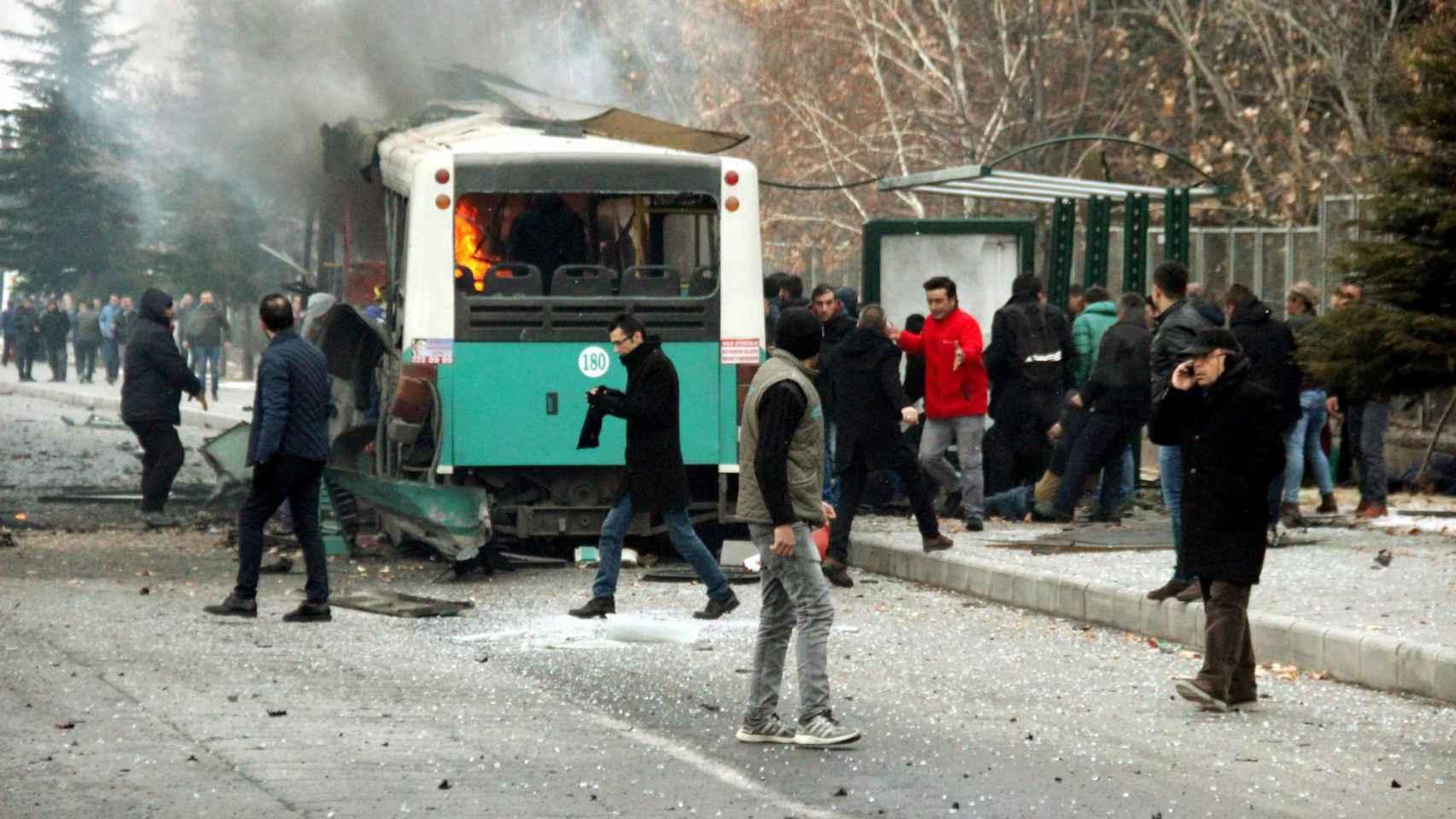 Estado en el que ha quedado el vehículo atacado.