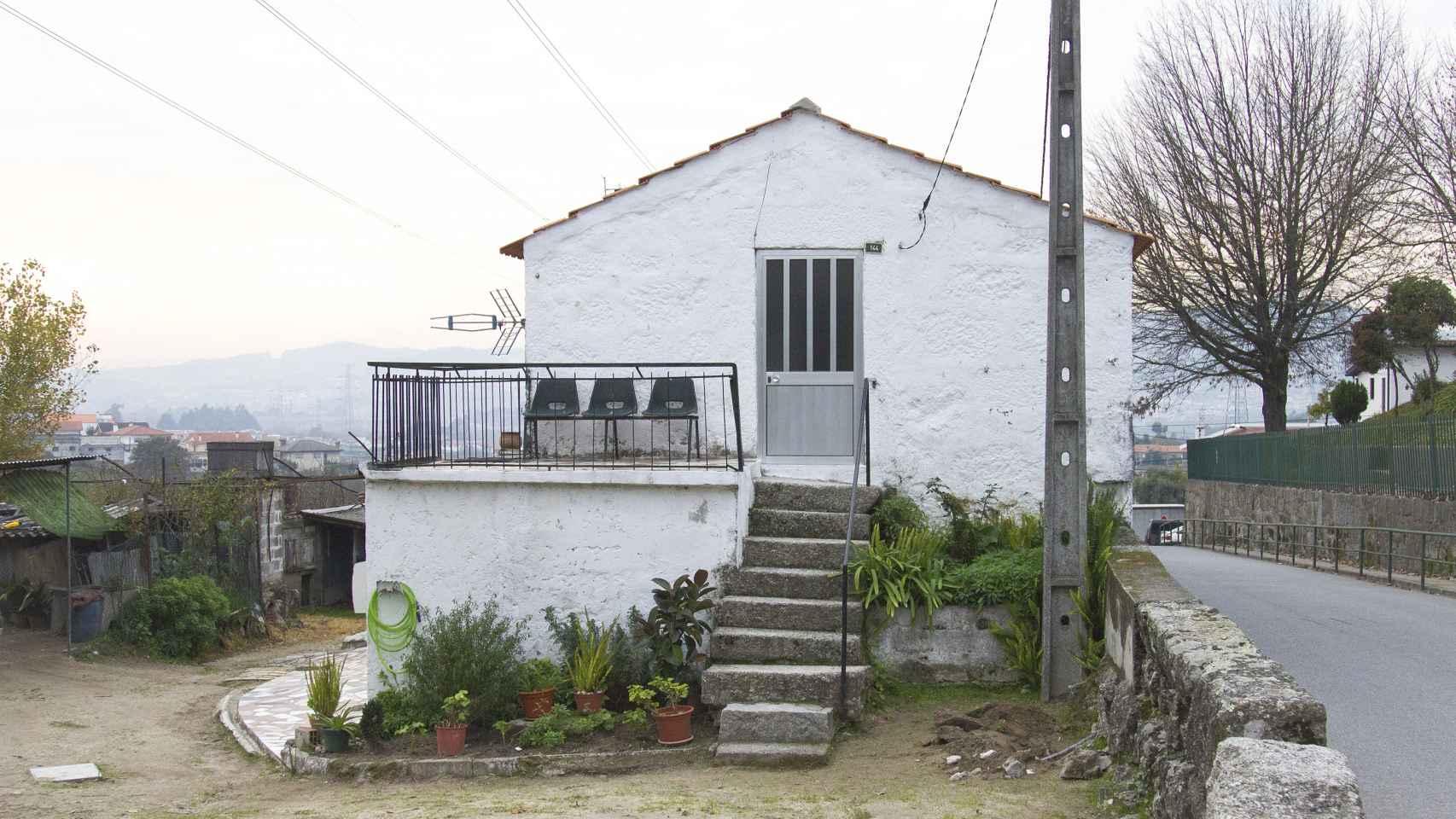 Casa típica de la aldea de Serzedelo, Guimarães.