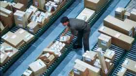 Un almacén de logística.