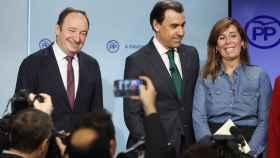 El vicesecretario Fernando Martínez-Maillo, con los organizadores del Congreso del PP.