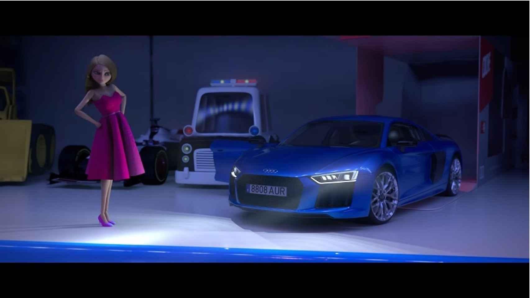 En imagen, los protagonistas del corto animado de Audi.