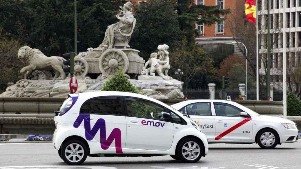 Un coche de emov, en Madrid, en una imagen de archivo.