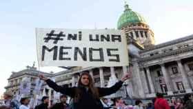 Manifestación en Argentina contra la violencia de las mujeres