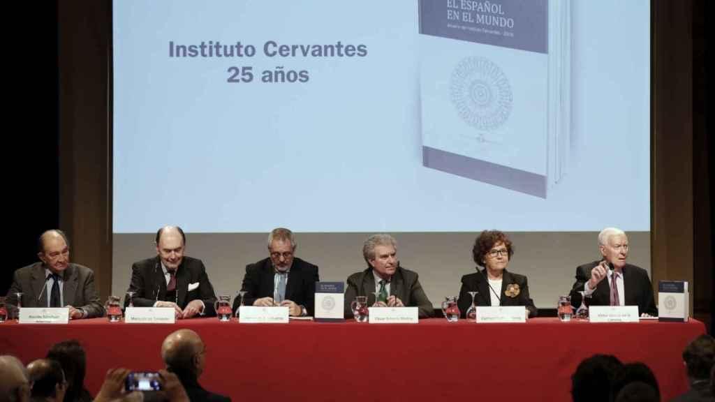 Durante la presentación de El español en el mundo.
