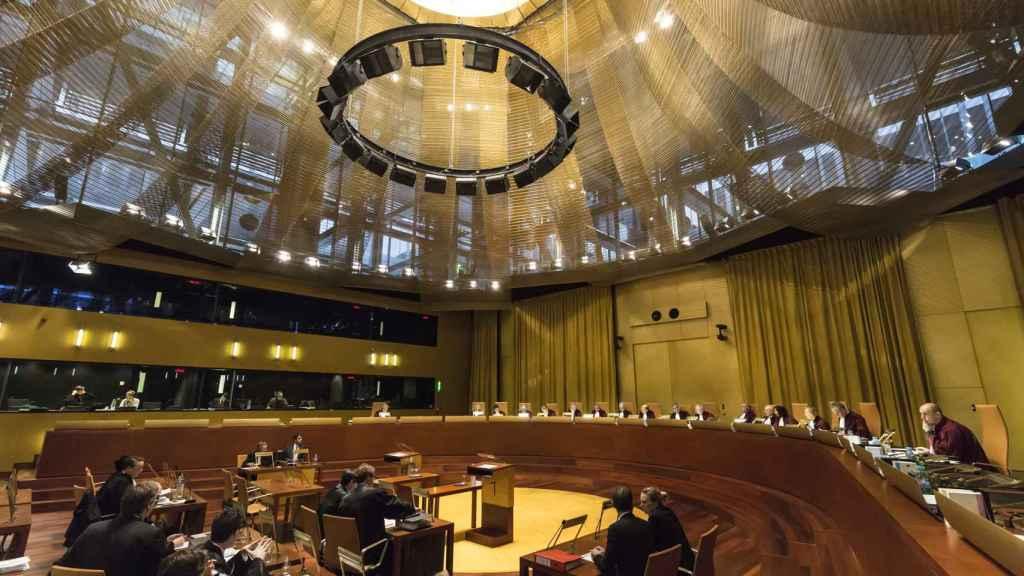 La gran sala de vistas del Tribunal de Sentencia de la UE