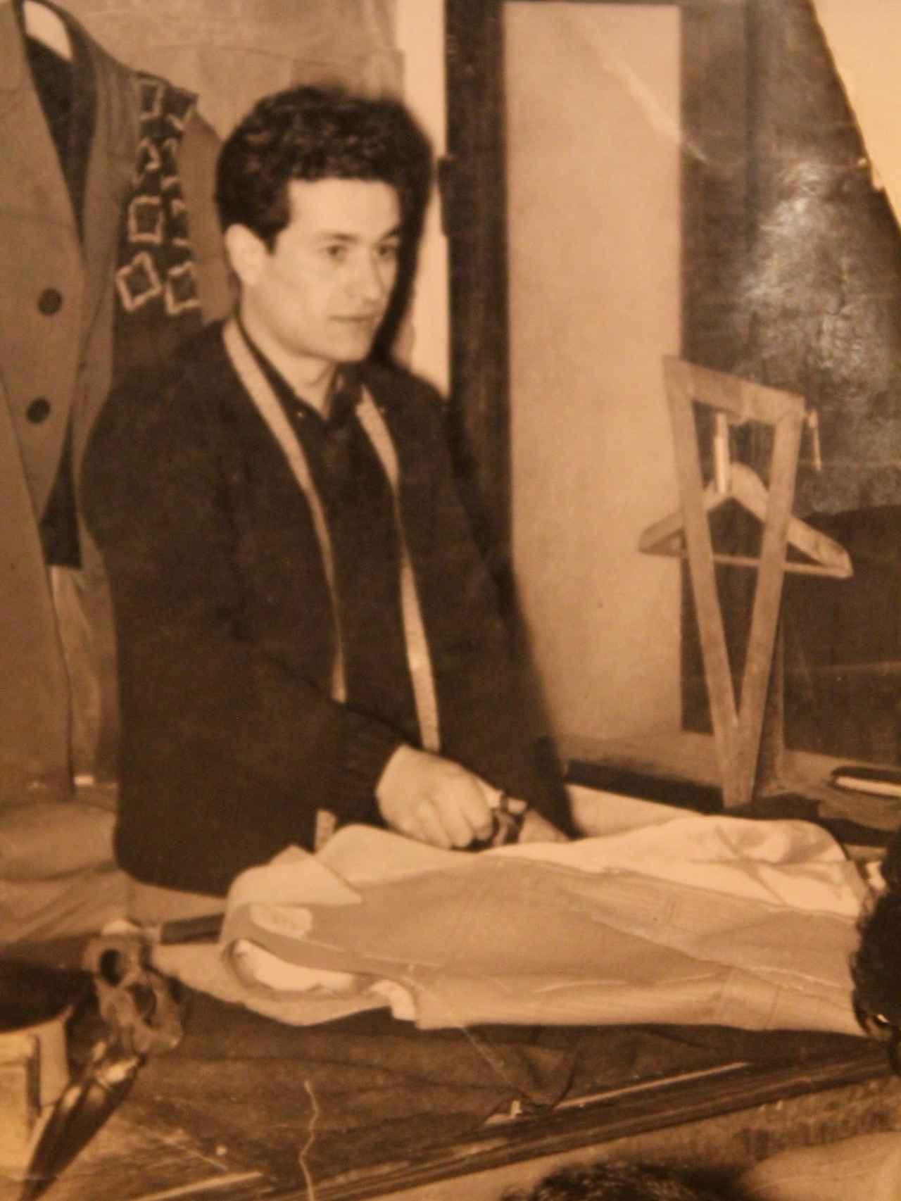 El padre de Bere Casillas, Francisco, en una imagen de 1960.