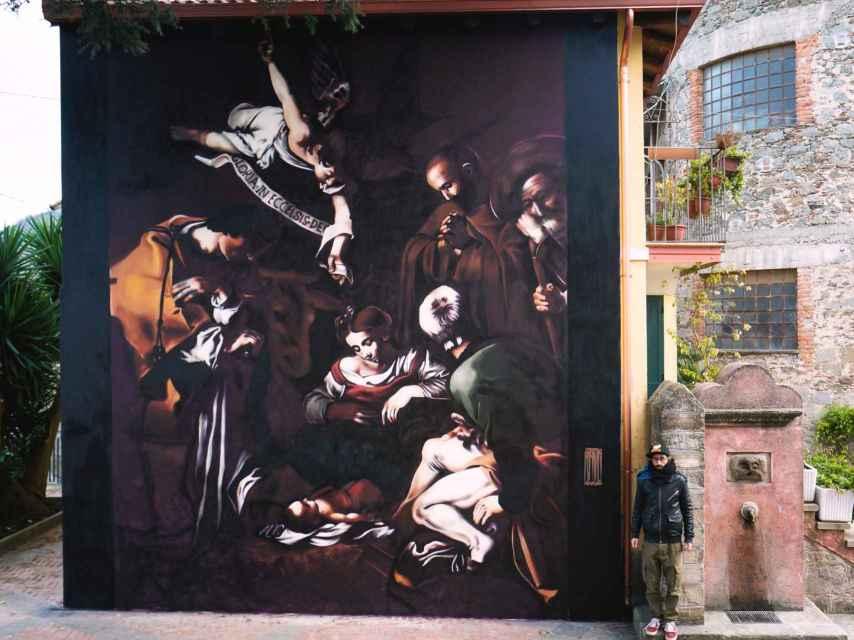 La Natividad de Caravaggio, por Andrea Ravo.