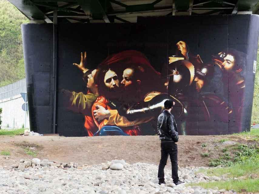 Uno de los grafitis de Andrea Ravo.