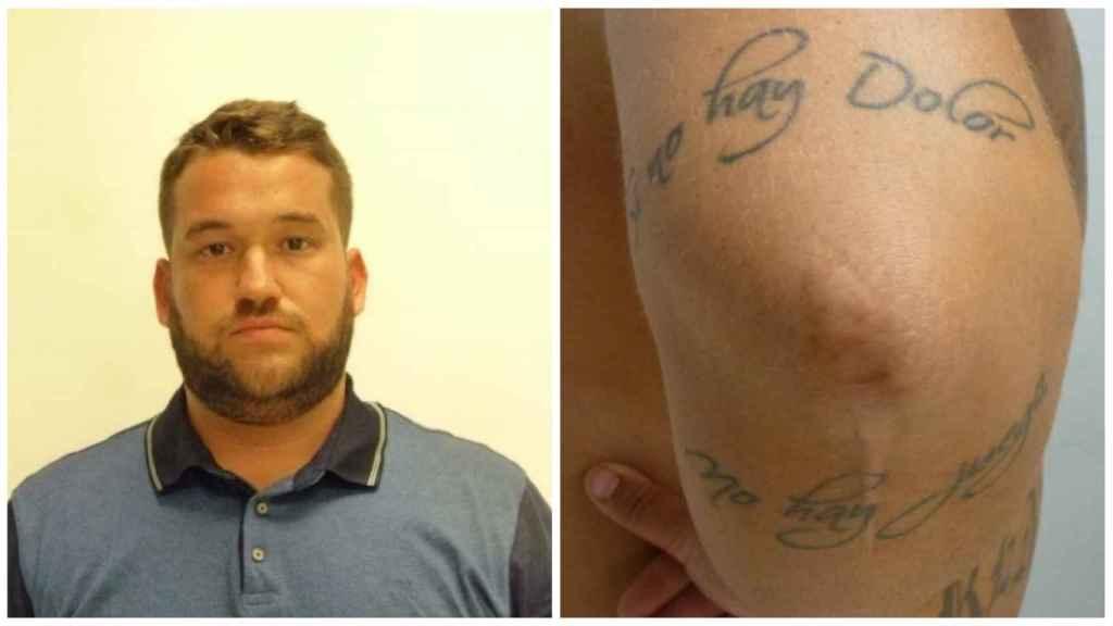 José Ángel Prenda tiene tatuado en el codo la frase Si no hay dolor, no hay juego.