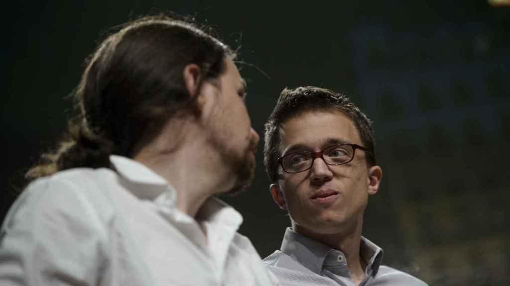 Iglesias y Errejón en la noche electoral del 26-J.