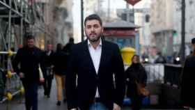 El eurodiputado Jonás Fernández, en Madrid antes de la entrevista.