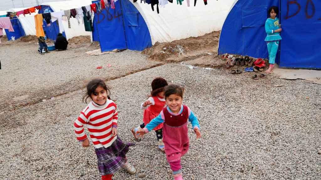 Más de 50.000 niños han abandonado Mosul desde el inicio de la batalla.